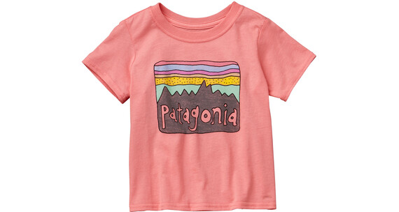 Patagonia Baby Fitz Roy Skies Cotton T-Shirt Pickled Pink